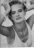 Agata Najsznerska modeling Mediolan 1989